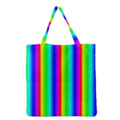 Rainbow Gradient Grocery Tote Bag by Nexatart