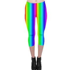 Rainbow Gradient Capri Leggings