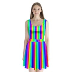 Rainbow Gradient Split Back Mini Dress