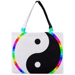 Rainbow Around Yinyang Mini Tote Bag by Nexatart