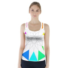 Rainbow Dodecagon And Black Dodecagram Racer Back Sports Top