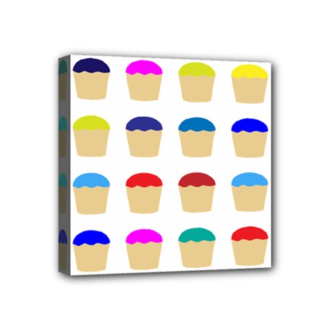 Colorful Cupcakes Pattern Mini Canvas 4  X 4  by Nexatart