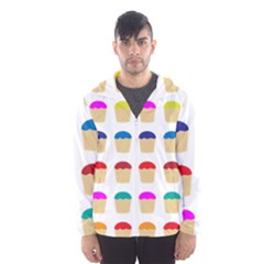 Colorful Cupcakes Pattern Hooded Wind Breaker (men)