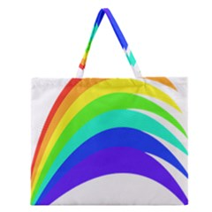 Rainbow Zipper Large Tote Bag by Nexatart