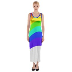 Rainbow Fitted Maxi Dress