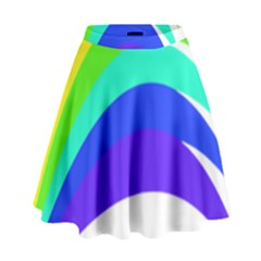 Rainbow High Waist Skirt by Nexatart