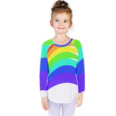 Rainbow Kids  Long Sleeve Tee