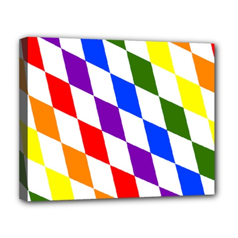 Rainbow Flag Bavaria Deluxe Canvas 20  X 16