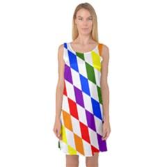 Rainbow Flag Bavaria Sleeveless Satin Nightdress