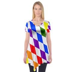 Rainbow Flag Bavaria Short Sleeve Tunic