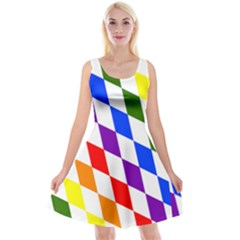 Rainbow Flag Bavaria Reversible Velvet Sleeveless Dress