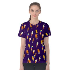 Seamless Ice Cream Pattern Women s Cotton Tee