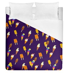 Seamless Ice Cream Pattern Duvet Cover (queen Size)