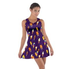 Seamless Ice Cream Pattern Cotton Racerback Dress