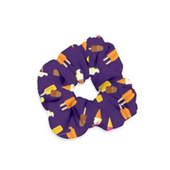 Seamless Ice Cream Pattern Velvet Scrunchie
