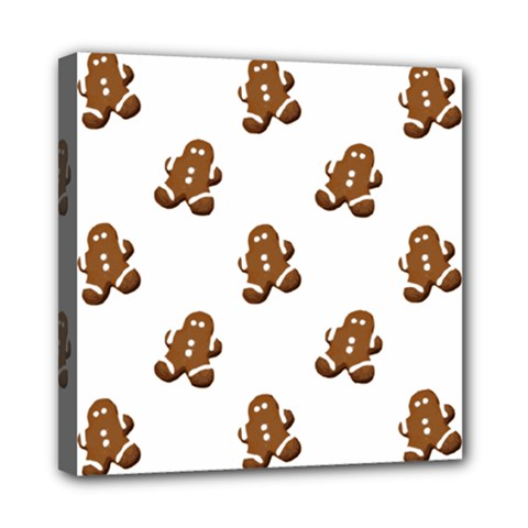 Gingerbread Seamless Pattern Mini Canvas 8  X 8  by Nexatart