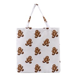Gingerbread Seamless Pattern Grocery Tote Bag by Nexatart