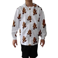 Gingerbread Seamless Pattern Hooded Wind Breaker (kids)