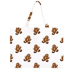 Gingerbread Seamless Pattern Zipper Large Tote Bag
