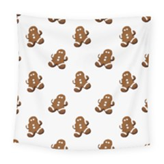Gingerbread Seamless Pattern Square Tapestry (large)