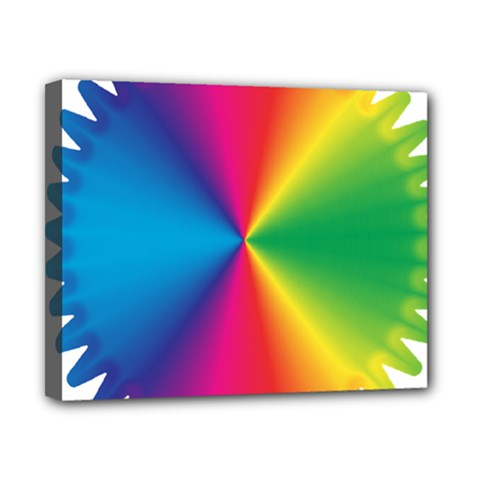 Rainbow Seal Re Imagined Canvas 10  X 8  by Nexatart