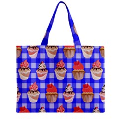 Cake Pattern Zipper Mini Tote Bag