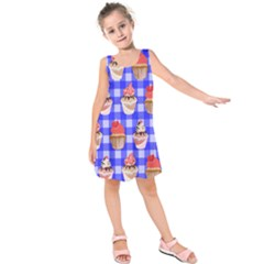 Cake Pattern Kids  Sleeveless Dress