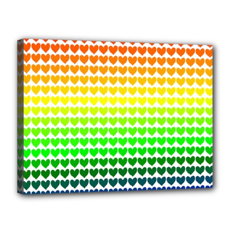 Rainbow Love Canvas 16  X 12  by Nexatart