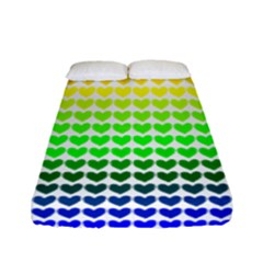 Rainbow Love Fitted Sheet (full/ Double Size) by Nexatart