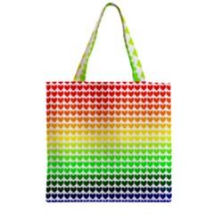 Rainbow Love Zipper Grocery Tote Bag by Nexatart