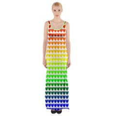 Rainbow Love Maxi Thigh Split Dress