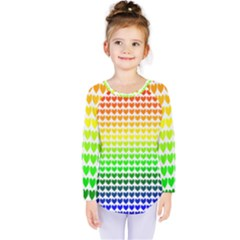 Rainbow Love Kids  Long Sleeve Tee
