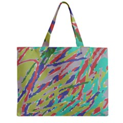 Crayon Texture Medium Zipper Tote Bag by Nexatart