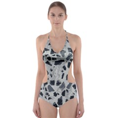 Textures From Beijing Cut Out One Piece Swimsuit