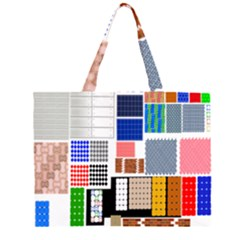 Texture Package Zipper Large Tote Bag