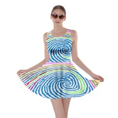 Prismatic Fingerprint Skater Dress