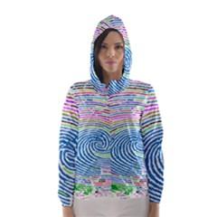 Prismatic Fingerprint Hooded Wind Breaker (women)