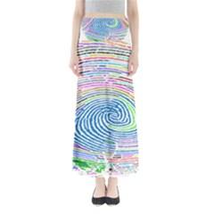 Prismatic Fingerprint Maxi Skirts
