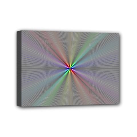 Square Rainbow Mini Canvas 7  X 5