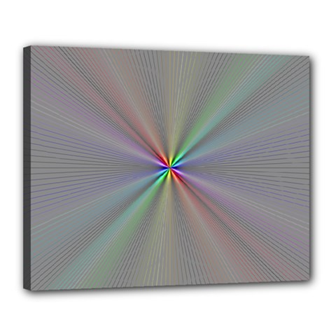 Square Rainbow Canvas 20  x 16  by Nexatart