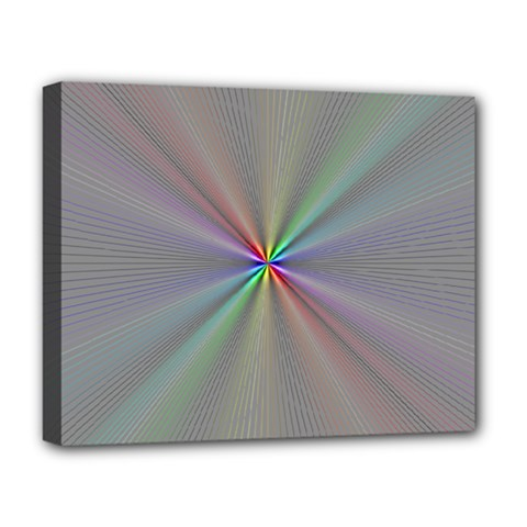 Square Rainbow Deluxe Canvas 20  X 16