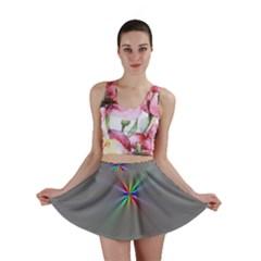 Square Rainbow Mini Skirt