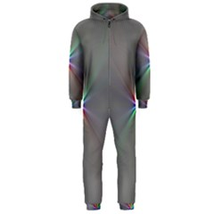 Square Rainbow Hooded Jumpsuit (men)