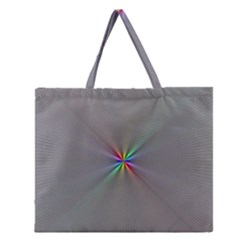 Square Rainbow Zipper Large Tote Bag by Nexatart