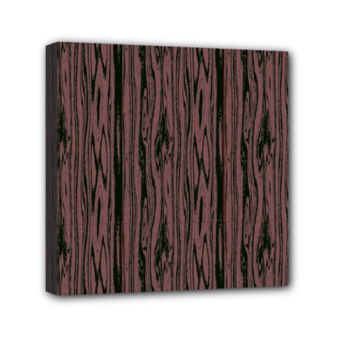 Grain Woody Texture Seamless Pattern Mini Canvas 6  X 6  by Nexatart