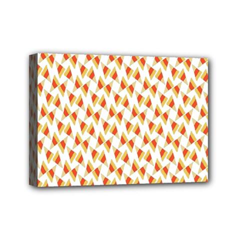 Candy Corn Seamless Pattern Mini Canvas 7  X 5