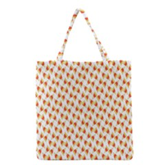Candy Corn Seamless Pattern Grocery Tote Bag