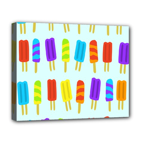 Popsicle Pattern Deluxe Canvas 20  X 16