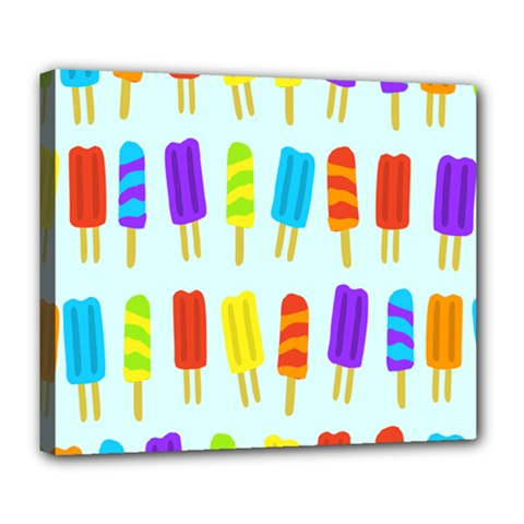 Popsicle Pattern Deluxe Canvas 24  X 20   by Nexatart