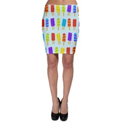 Popsicle Pattern Bodycon Skirt